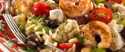 Greek Shrimp and Orzo Salad