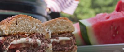 Dr. BBQ's Stuffed Burgers