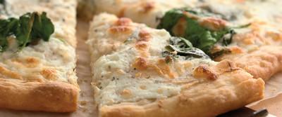 King Arthur Flour's Spinach White Pizza