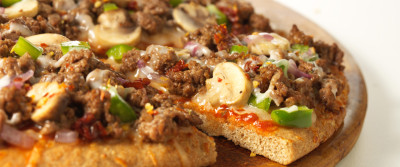Laura's Lean Beef Pizza Romano