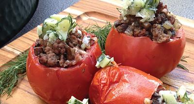 Linkie Marais' Greek Stuffed Tomatoes