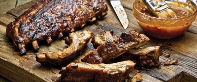 Apple Bourbon Ribs from the Big Green Egg