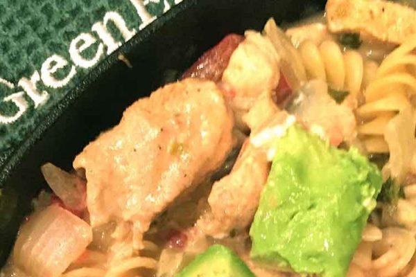 salsa verde chicken pasta