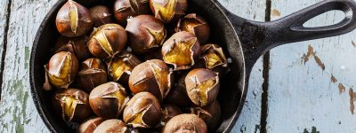 Roasted Chestnuts on the Big Green Egg