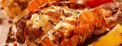 Ricky Taylor's Peri Peri Lobster grilled to perfection on the Big Green Egg